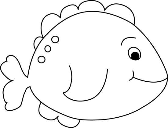 Black and White Little Fish Clip Art - Black and White ...
