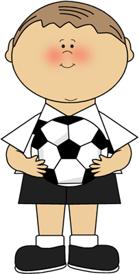 Boy Soccer Player Clip Art Image - boy soccer player in a soccer ...