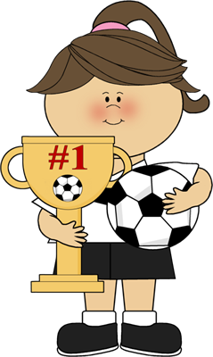 Girl With Soccer Trophy