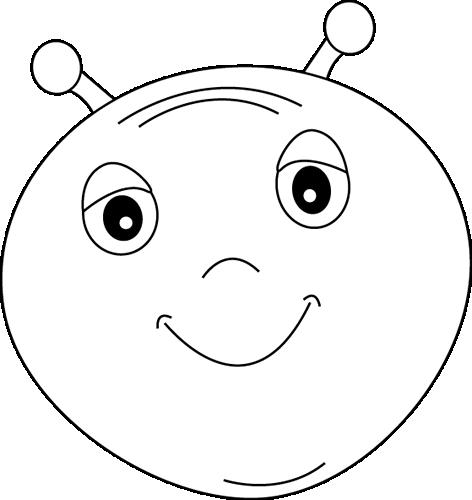 Black and White Alien Head