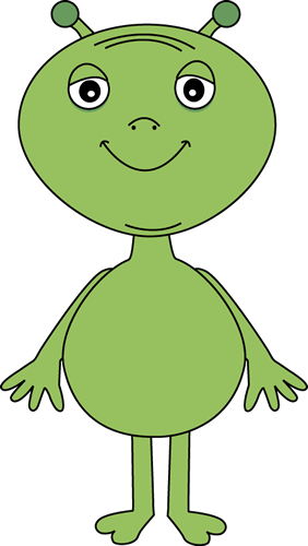 Alien Clip Art Image - big green alien with a smile.: www.mycutegraphics.com/graphics/space/alien.html