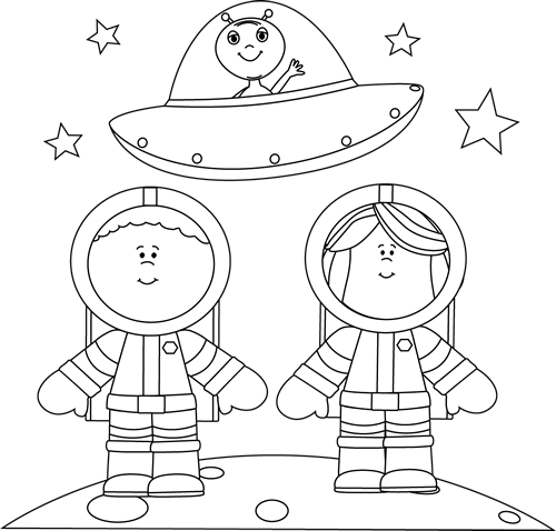 alien clipart black and white - photo #33