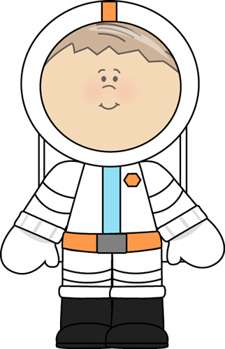 Boy Astronaut Clip Art Image - little boy astronaut with brown hair    Kid Astronaut Clip Art