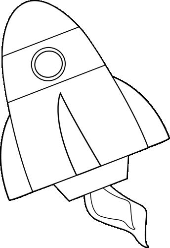 Black and White Rocket