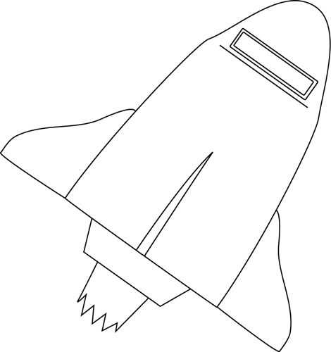 Black and White Space Shuttle