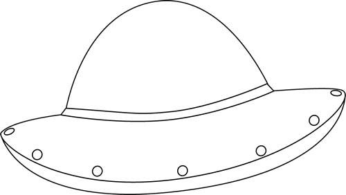 Black and White UFO Clip Art - Black and White UFO Image