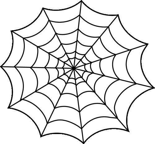 Black and White Spider Web Clip Art