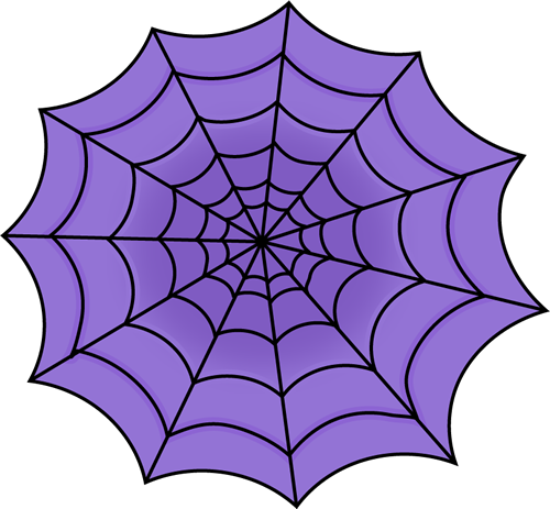 Purple Spider Web Clip Art