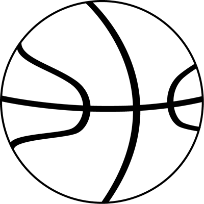 Black and White Basketball Ball