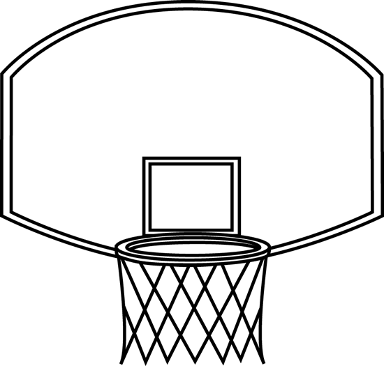 Black and White Basketball Backboard