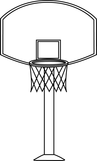Black and White Basketball Goal