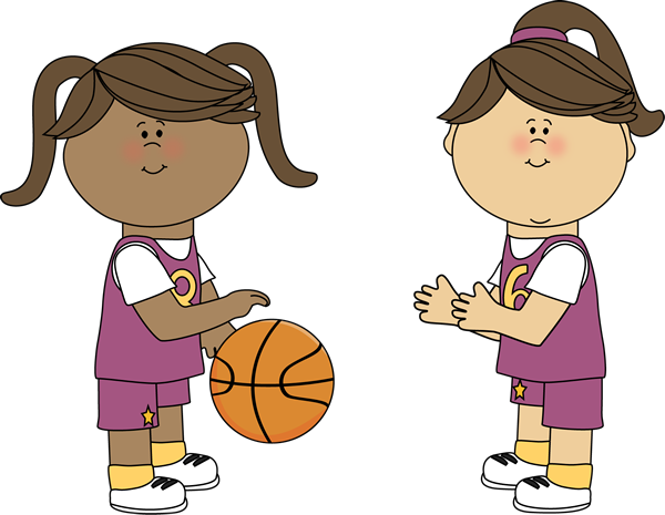 Girls Playing Basketball Clip Art - Girls Playing ...