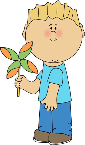 Boy with a Spring Pinwheel