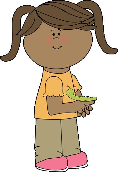 Girl with a Caterpillar