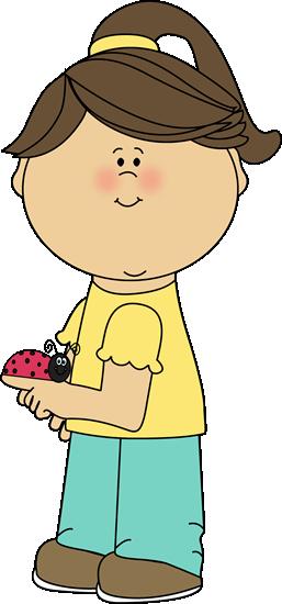 Girl with a Ladybug