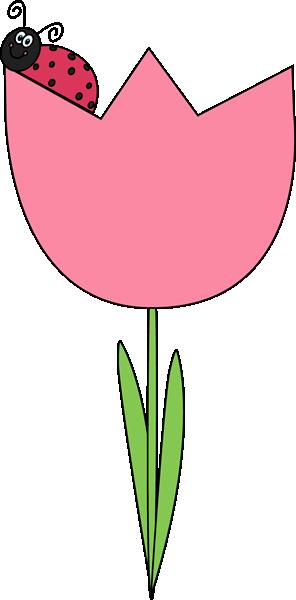 Clip Art Tulip Clip Art ladybug on a tulip clip art image tulip