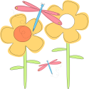 Spring Flowers and Dragonflies