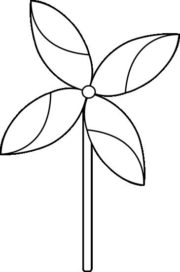 Black and White Spring Pinwheel