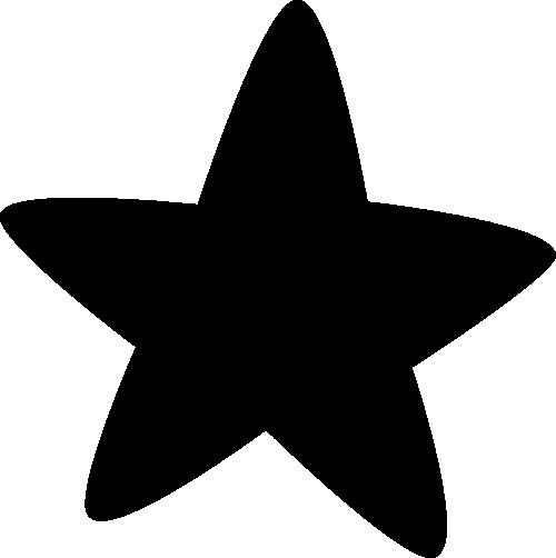 Black Rounded Corner Star