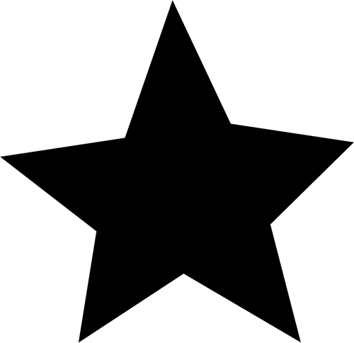 Black Star Clip Art - Black Star Image