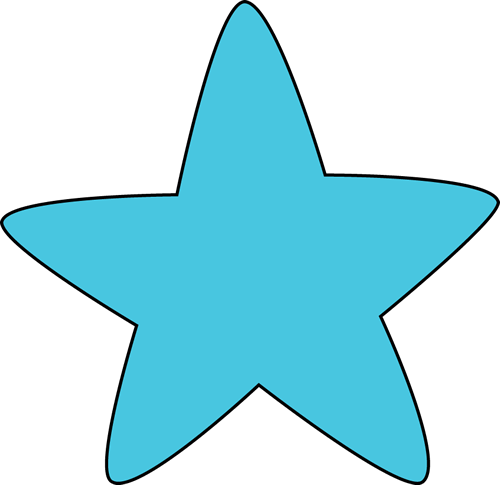 Blue Rounded Star Clip Art - Blue Rounded Star Image