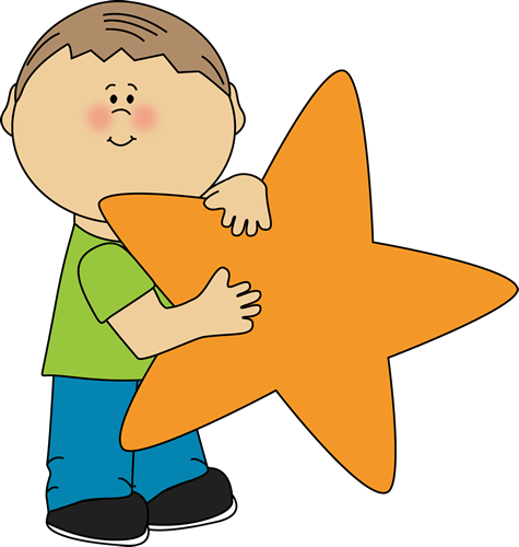 Boy Holding an Orange Star