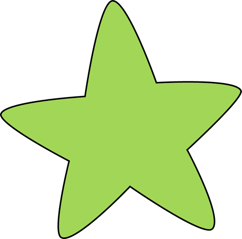 Green Rounded Star