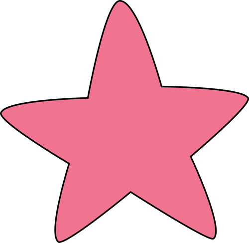 Pink Rounded Star