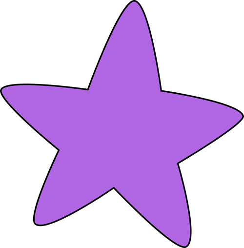 Purple Rounded Star