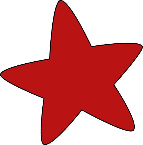 Red Rounded Star