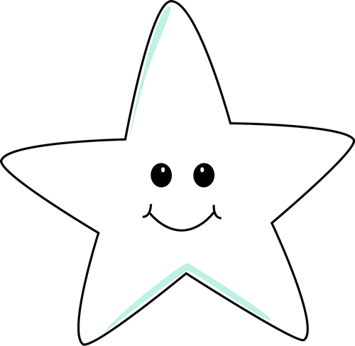 Smiling Star Clip Art Image - white smiling star clip art image in ...