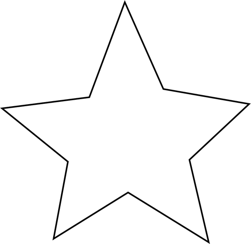 black and white star clip art - photo #11