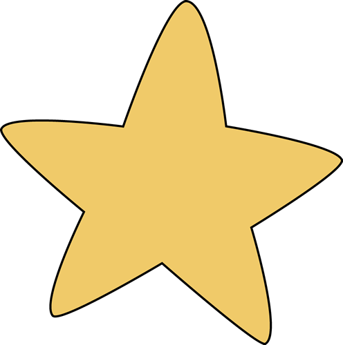 Yellow Rounded Star