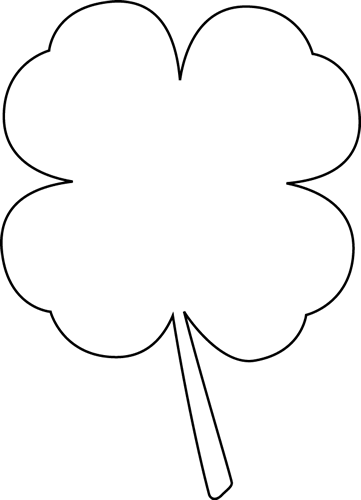 black and white four leaf clover clip art black and
