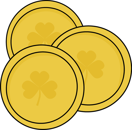 Gold Saint Patrick's Day Coins