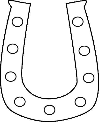Black and White Horseshoe