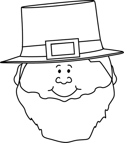 Black and White Leprechaun Face