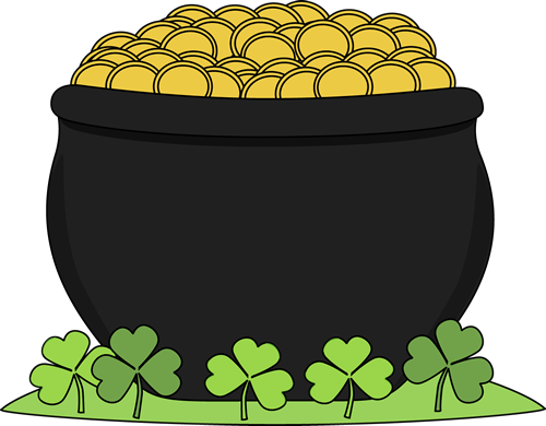 Pot of Gold and Shamrocks