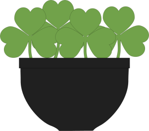 Pot of Shamrocks
