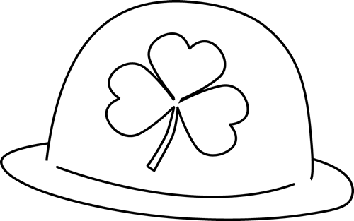Black and White Saint Patrick's Day Hat