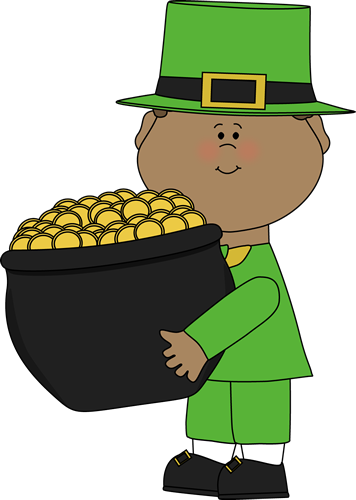 Saint Patrick's Day Boy with Pot of Gold