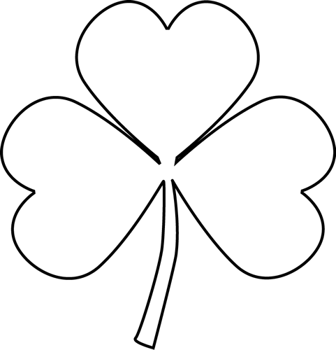 Black and White Shamrock