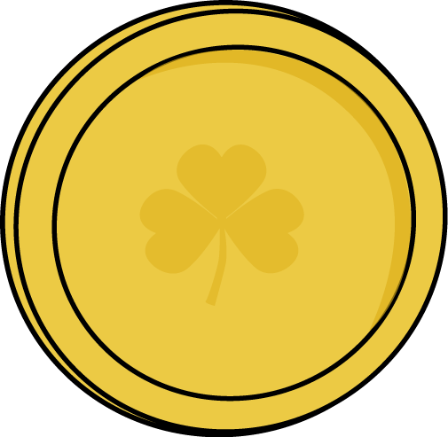 Single Gold Saint Patrick's Day Coin