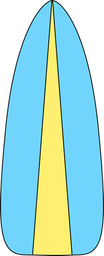 Blue and Green Surfboard