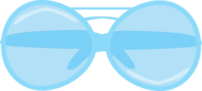 Blue Sunglasses Clip Art