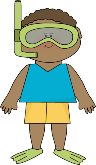 Boy Wearing Snorkle Gear