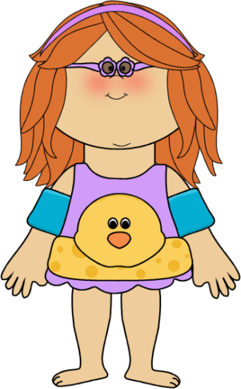 Free kids swimming clipart