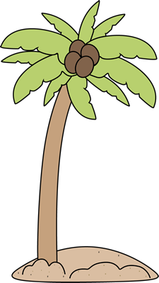 Palm Tree in the Sand Clip Art