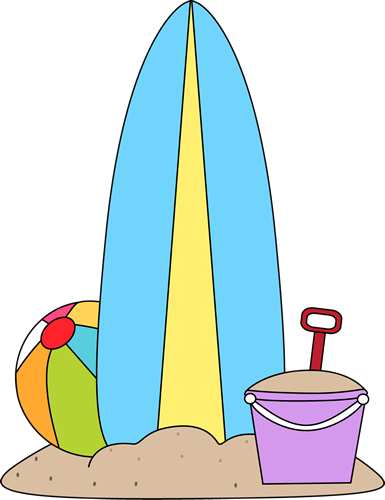 Clip Art Surf Board Clip Art surfboard clip art images and beach toys in the sand