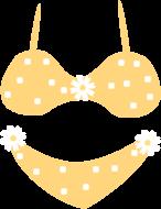 Yellow Bikini Clip Art